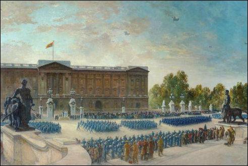 Parade bij Buckingham Palace