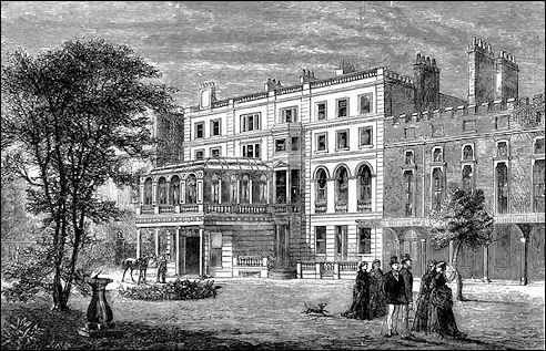 Clarence House in Londen omstreeks 1874