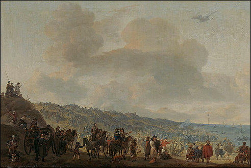 Karel II in Scheveningen