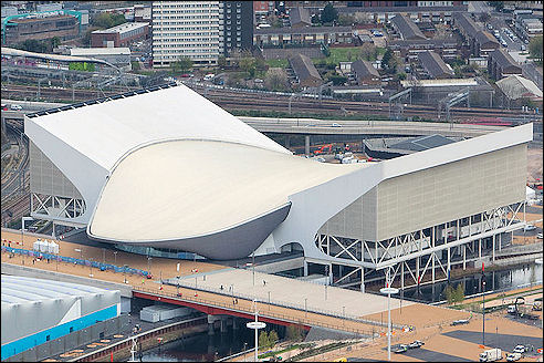 Olympic Aquatic Centre in Londen